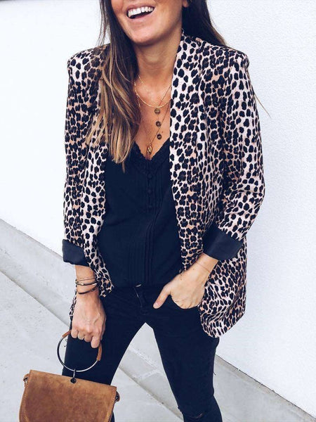 Sexy Print Long sleeve Blazer