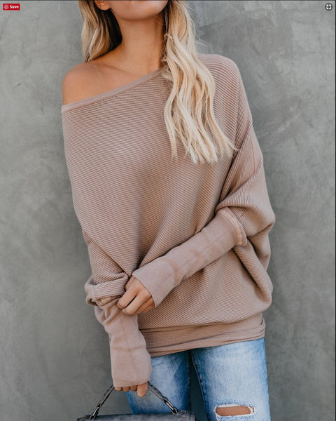 Women Fashion Knitted Long Sleeve Sweater