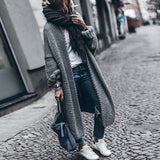 Women Loose Solid Color Thicken Sweater Cardigan