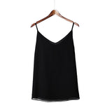 Women 100% Real Silk  Sleeveless Solid Blouse