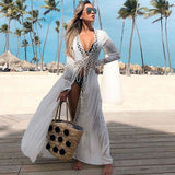 Women White Sexy Swimwear Beach Cover up  (White One Size)