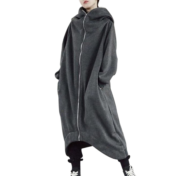 Women Fashion Oversize Hooded Loose Long Coats