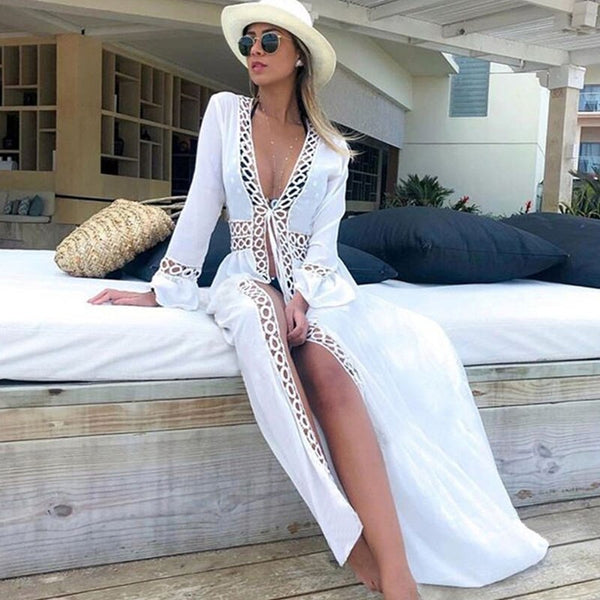 Women White Sexy Swimwear Beach Cover up