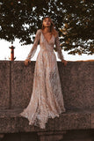 Glitter Sexy Deep V-neck Party Wedding Dresses