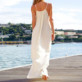 Women Sexy Backless Elegant Loose Maxi Dresses