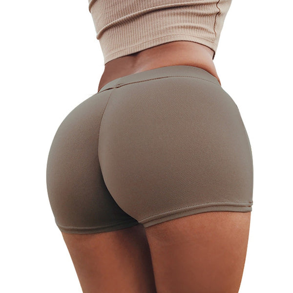 Women Sexy High Waist Elastic Fitness Leisure Shorts