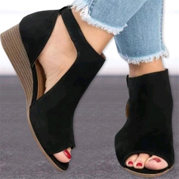 Spring Summer New Women Flat Platform Casual Leather Classic Sandals