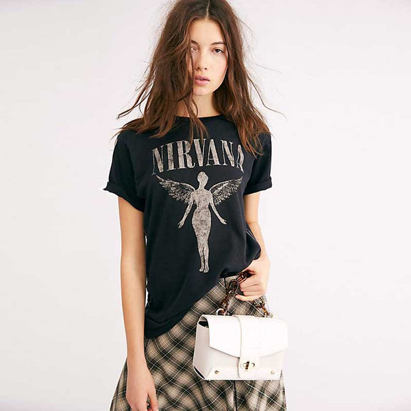Short Sleeve Angel Graphic Tees T-Shirt Tops