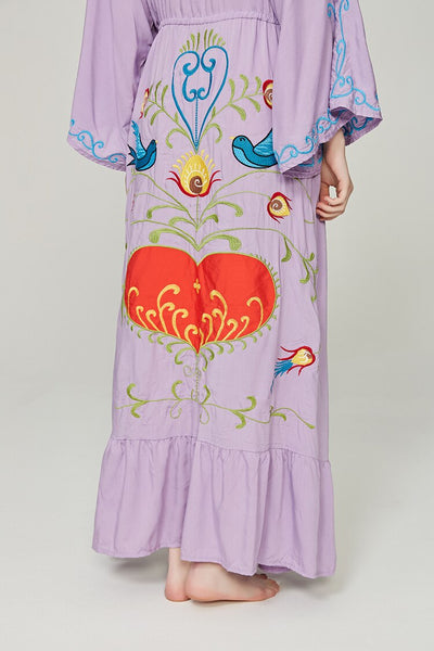 Loose Casual Floral embroidered Ruffle Bohemia Dresses