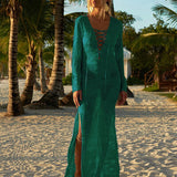 Loose Cotton Solid Swimwear Cover Up