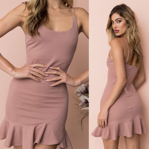 New Fashion Style Sexy Women Summer  Sleeveless Mini Dress