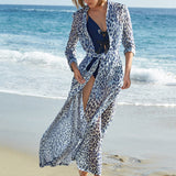 Women Sexy Print Leopard Swimsuit Cover Up