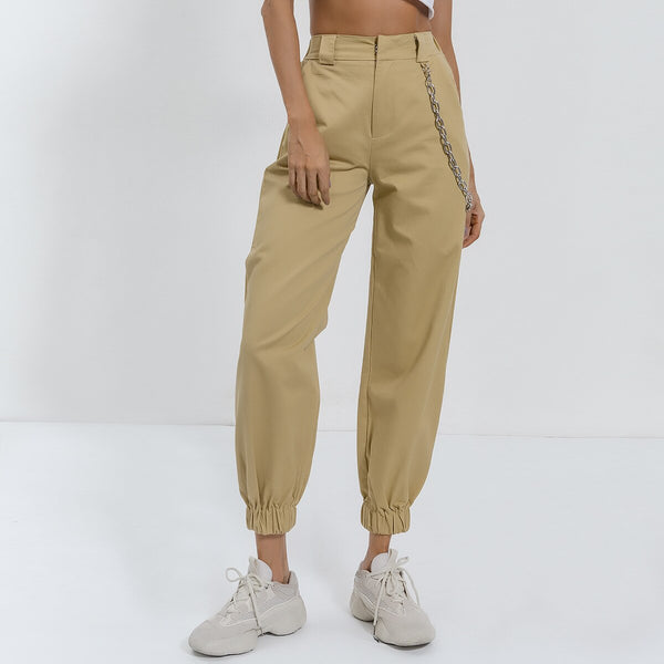 Vintage Chain High Waist Pants