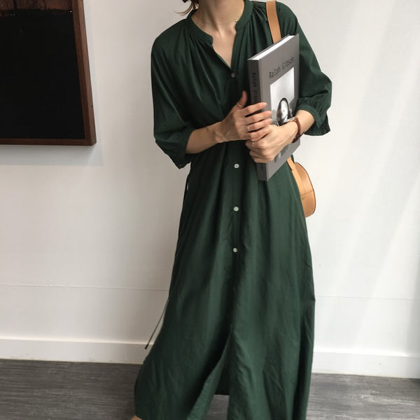 Women Summer Casual Solid Short Sleeve Slim Maxi Dress