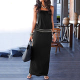 Women Sexy Off Shoulder Sleeveless Print Maxi Dress