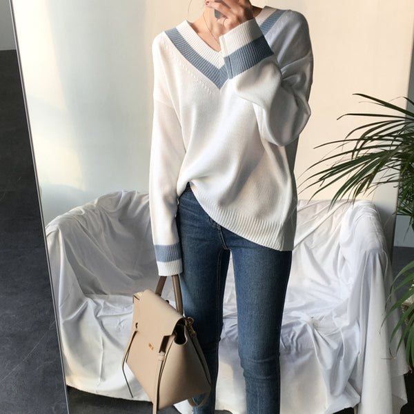 Women Pullover Korean Style Casual Sweater