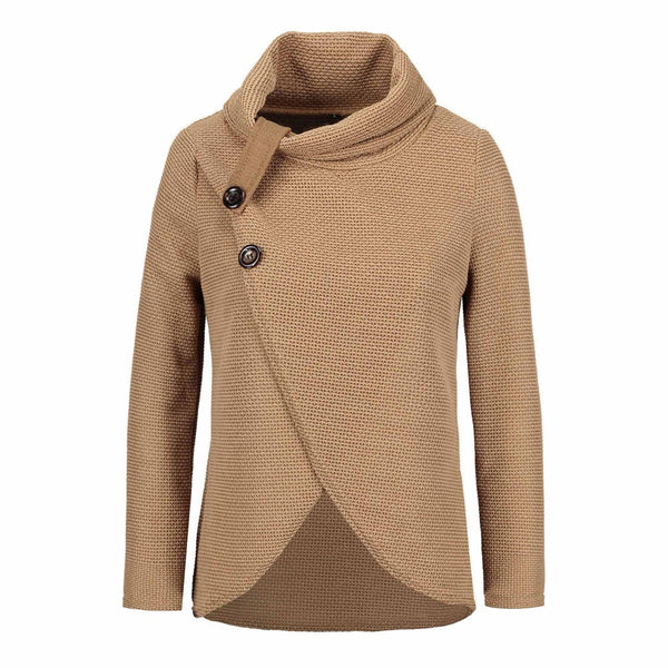 Women knitted pullovers Long Sleeve o neck Solid Pullover Shirt Blouse