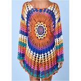 Summer Women Knitted Sexy Hollowed Cover ups