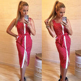 Women Fashion Bohemia Square collar Bottoming Knee -length dresses