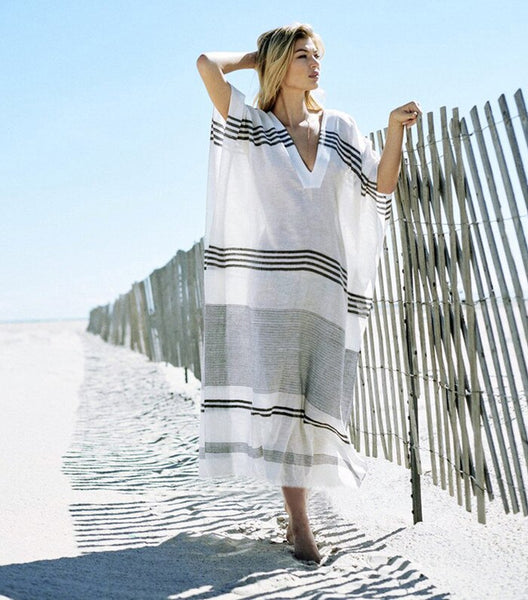 Women Summer Striped Sexy Bikini Cover Up