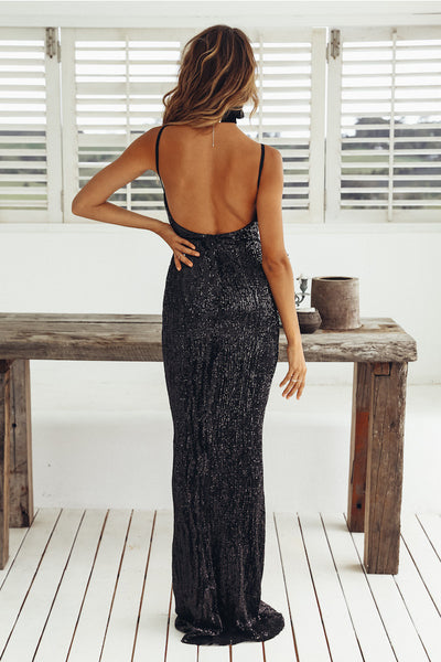 New Style Deep V-neck Solid Sexy Evening Dresses