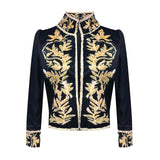 Women Blazers Open Front Stand Collar Suit Jacket