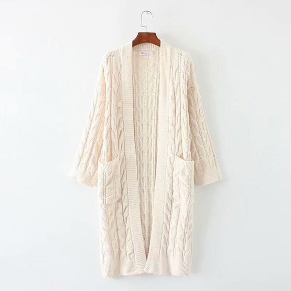 Vintage Long Sleeve Casual Knitted Cardigan Sweater