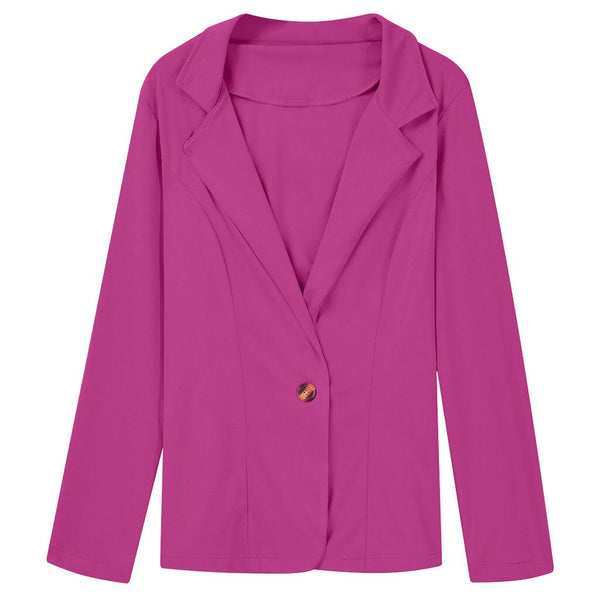 Long Sleeved Solid Color Slim Coat Tops