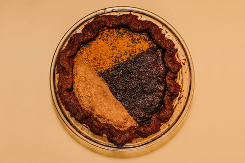 Cinnamon Chocolate Chess Pie