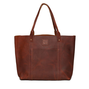 Introducing the Greenwood Bison Leather Tote Bag!