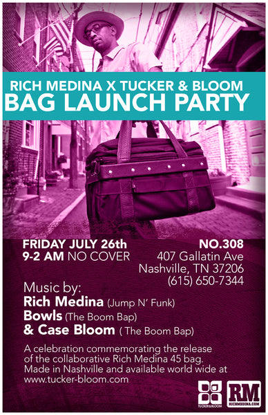 Nashville Rich Medina x Tucker and Bloom bag launch party