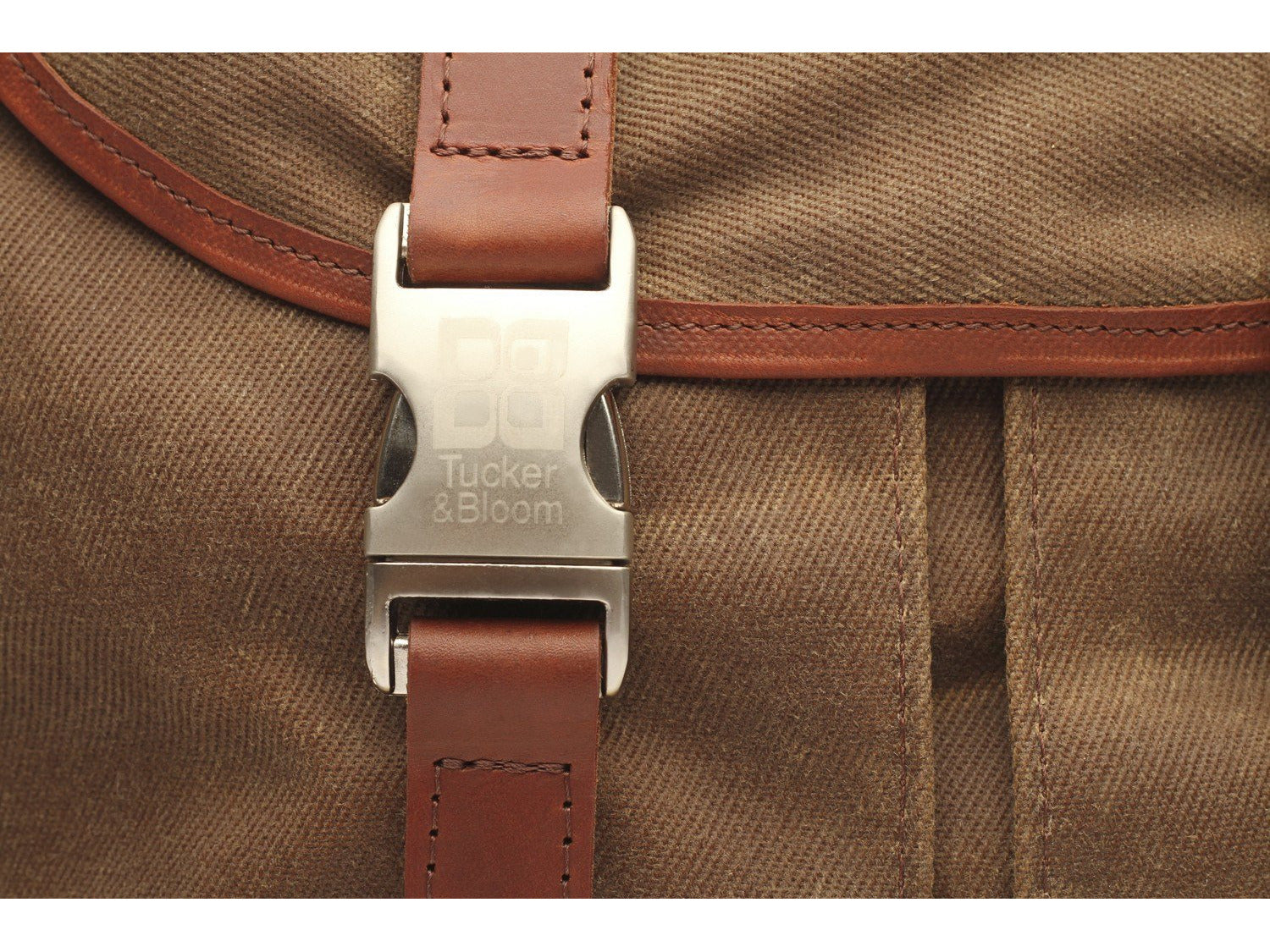 bdcc5cbd64a North To South Messenger Bag with waxed canvas and leather trim ...