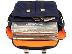 Waxed Canvas and leather DJ record bag