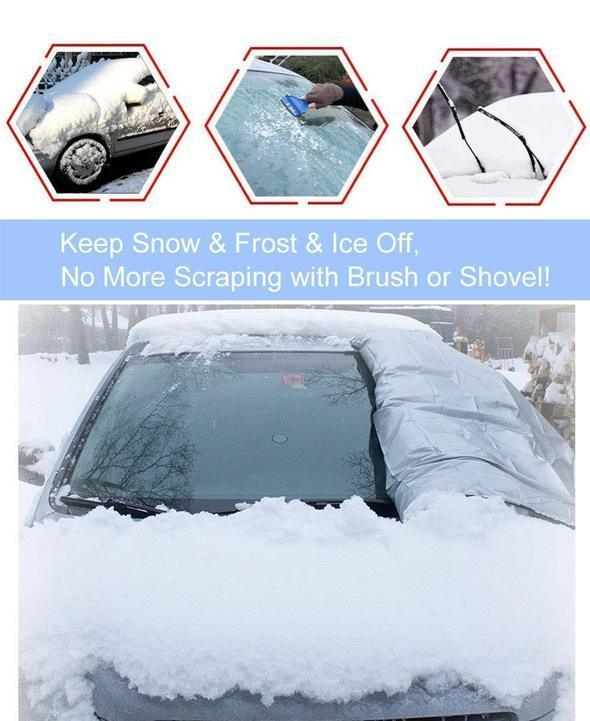 (50%OFF) Premium Windshield Snow Cover