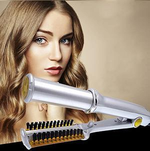🔥50% OFF 🔥Titanium 2-Way Rotating Curling Iron/Dual-Use Straight And Curling