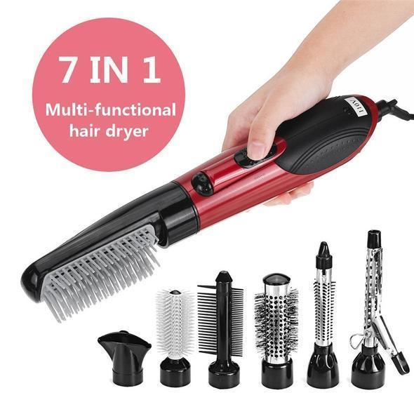 ⭐Christmas gift sales50% OFF Last 2 days⭐7 in 1 Ceramic Hair Dryer Rotating Curling Iron Brush
