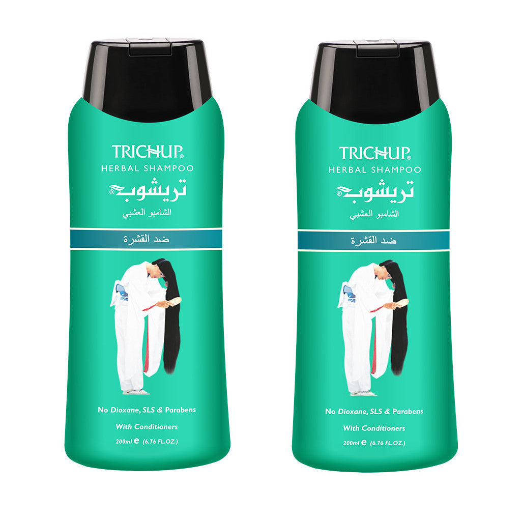 2 Shampoings Soin Indien Anti-pelliculaire  Trichup 200ml