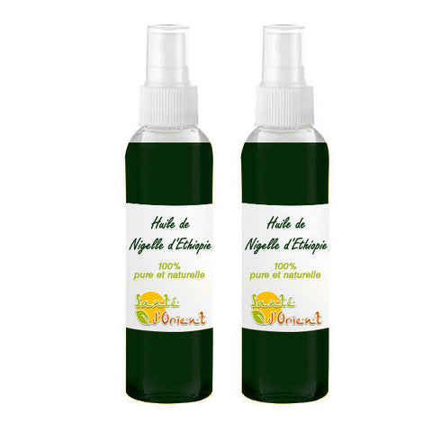 Lot de 2 Huiles de Nigelle d'éthiopie 30mL spray 100% naturelle