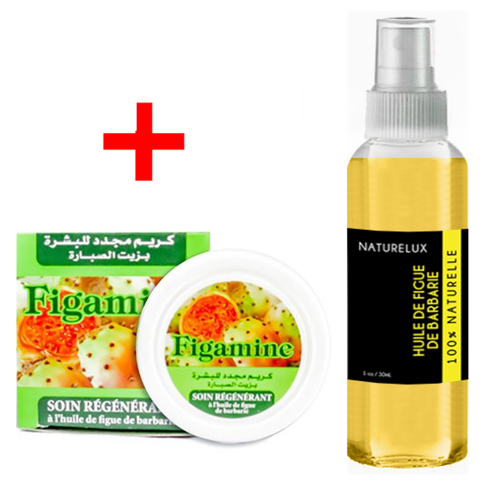 Pack Huile de Figue de Barbarie 30mL Spray + Crème de Figue de Barbarie