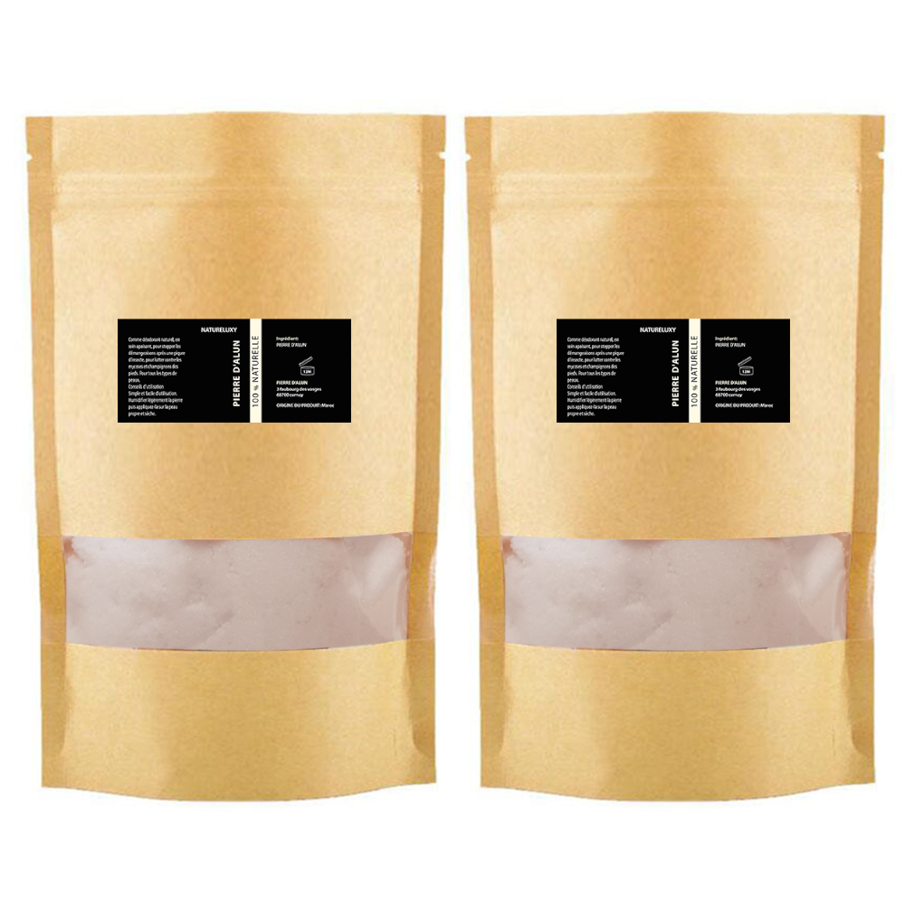 2kg Pierre d'Alun Poudre DEO NATUREL - POTASSIUM MEDICAL & CARE -5%