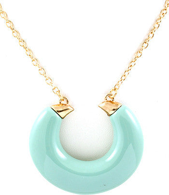 Turquoise Long Open Loop Pendant Chain