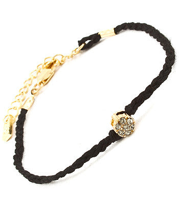 Black Gem Friendship Bracelet
