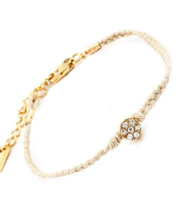 Cream Gem Friendship Bracelet