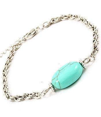 Stone Accented Chain Bracelet