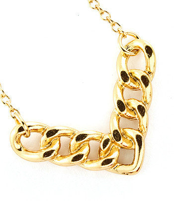 Gold Arrowed Chain Link Necklace