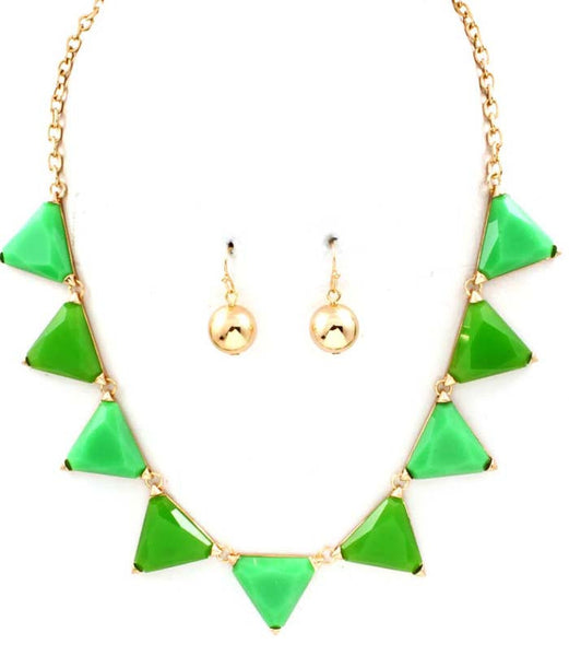 Green Triad Necklace