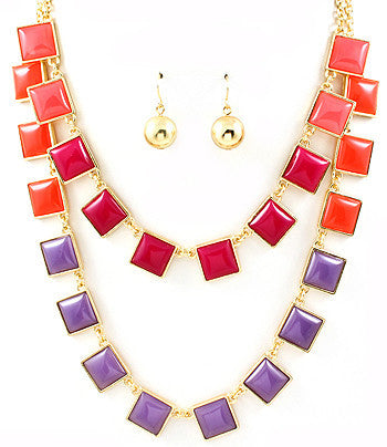 Square Multi-Strand Necklace