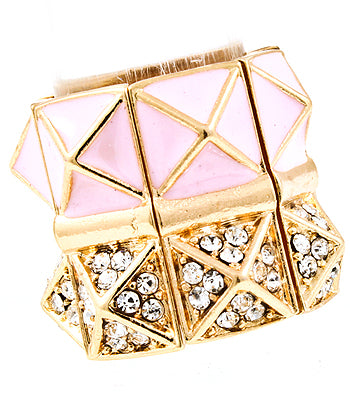 Blush Pyramid Stud Ring
