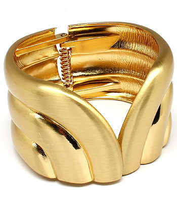 Grecian Gold Bangle Bracelet