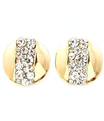 Gold Sparkle Clip On Earrings